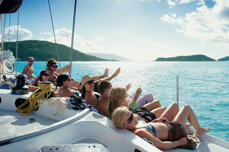 Backpackers in the Whitsundays