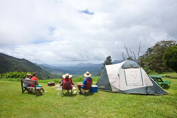 Camping at Eungella National Park